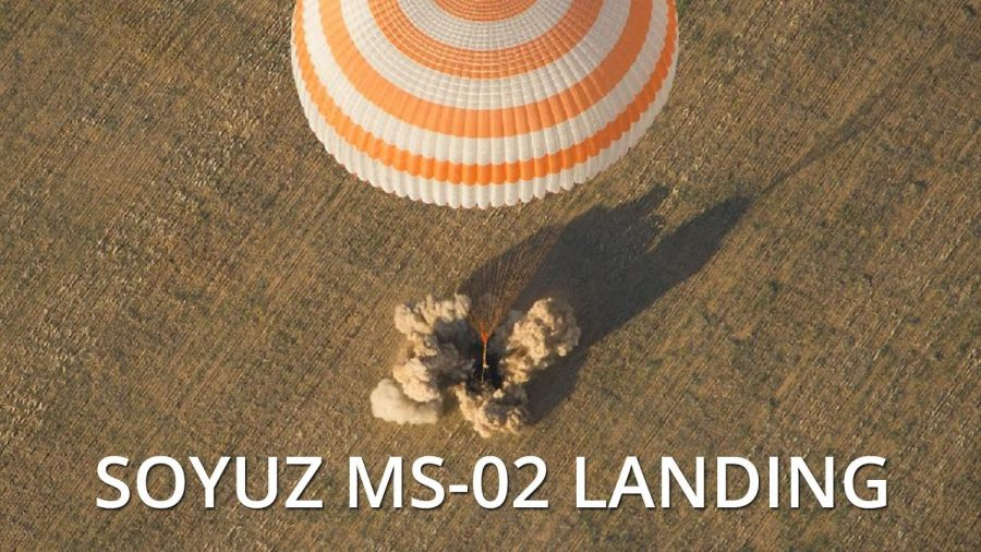 Soyuz MS02 landing