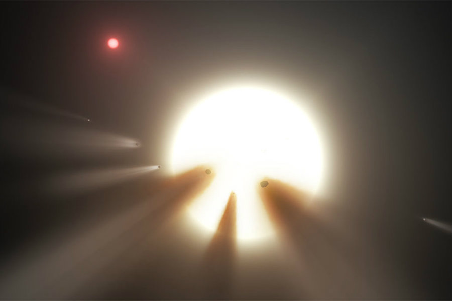 """The """"Alien Megastructure"""" star is acting up again, and scientists around the world are puzzled. Image credit: NASA JPL / Caltech / New Scientist"""