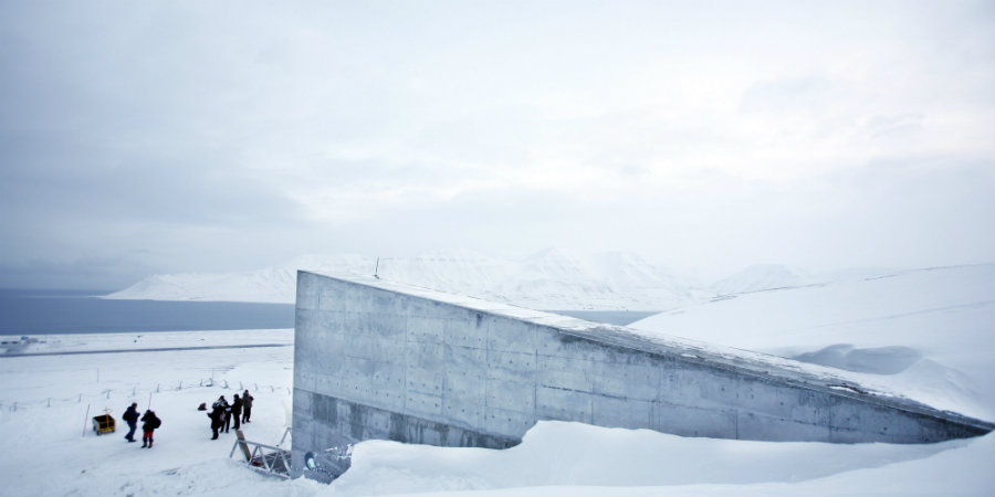 The vault was built in one of Norway's islands in the Arctic, known as the Island of Spitsbergen. Image credit: AP / The Huffington Post