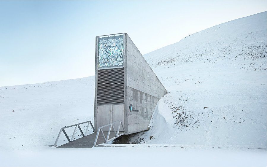"The famous vault, also known as ""Arctic Doomsday Vault,"" was designed as an impregnable deep-freeze to protect seeds from around the world in the event that a global disaster hits humanity. Image credit: Croptrust.org / Wired"