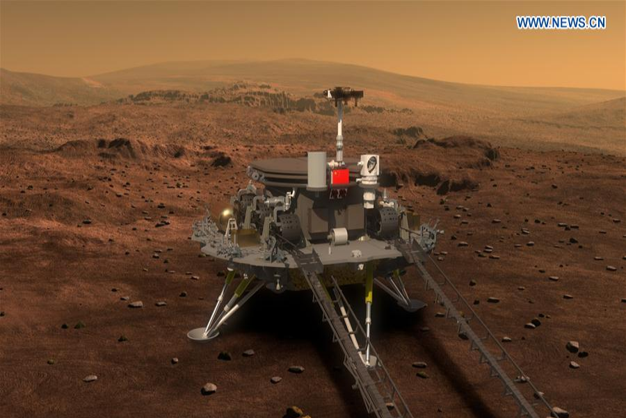 The Chinese government revealed that the rover will collect samples of the Martian soil and atmosphere, while also looking for any signs of water or ice. Image credit: Xianhua
