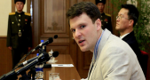 """University of Virginia Otto Warmbier was convicted to """"15 years of hard labor"""". Image credit: Kim Kwang Hyon / AP"""