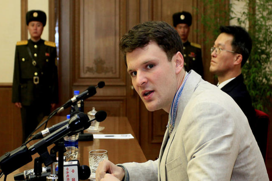 "University of Virginia Otto Warmbier was convicted to ""15 years of hard labor"". Image credit: Kim Kwang Hyon / AP"