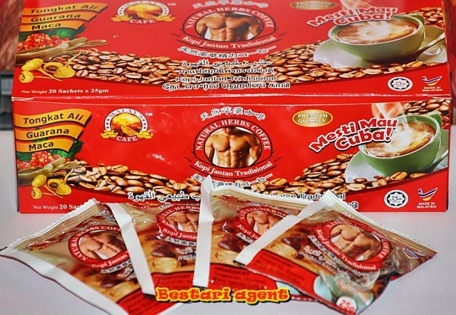 New of Kopi Jantan Tradisional Natural Herbs Coffee. Image Credit: Kedari Bestari