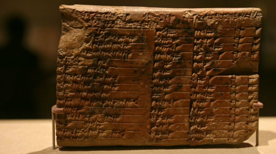 The clay tablet is believed to be about 3700 years old. Image credit: Flickr / Yahoo! News