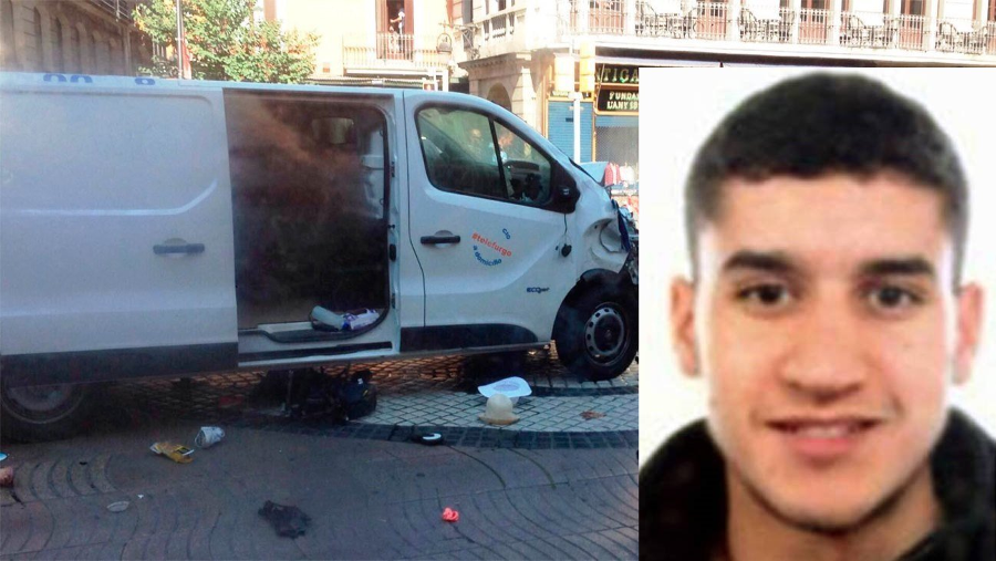 Younes Abouyaaqoub, the suspect thought to have driven the van into the crowd. Image Credit: Diario de Avisos