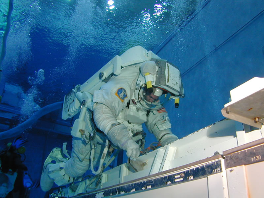 The Neutral Buoyancy Laboratory at the NASA Johnson Space Center Houston. Image Credit: NASA
