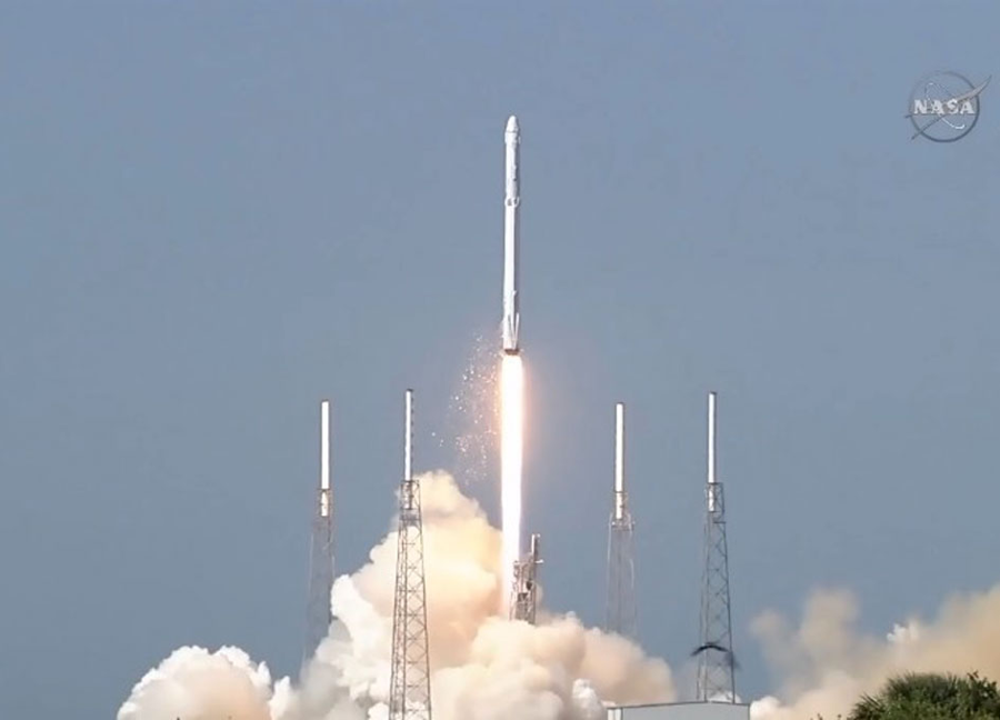 The Falcon 9 used in the mission was a fresh vehicle. Image Credit: NASA