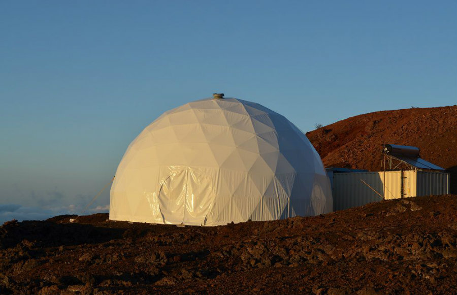 Six NASA scientists finally ended on Sunday an eight-month period of isolation inside a massive dome in a Hawaiian volcano zone. Image credit: Vox