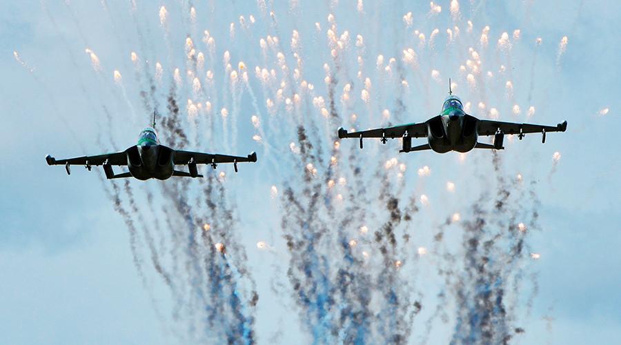Jets during the second stage of the Zapad 2017 exercises.  Image Credit: Viktor Tolochko / Sputnik