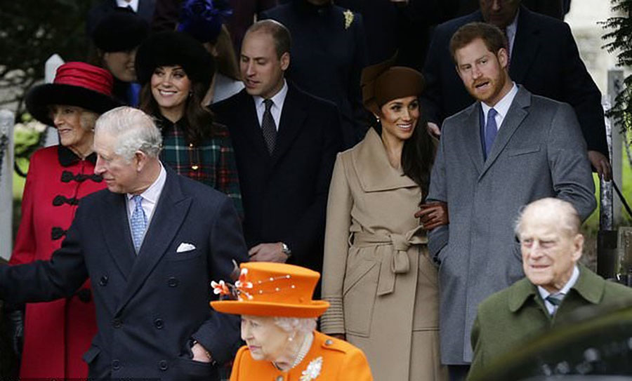 Militant attacks in London and Manchester, Queen of England Elizabeth II, Christmas Eve Speech, Prince Philip and Duke of Edinburgh, Prince Harry and Meghan Markle
