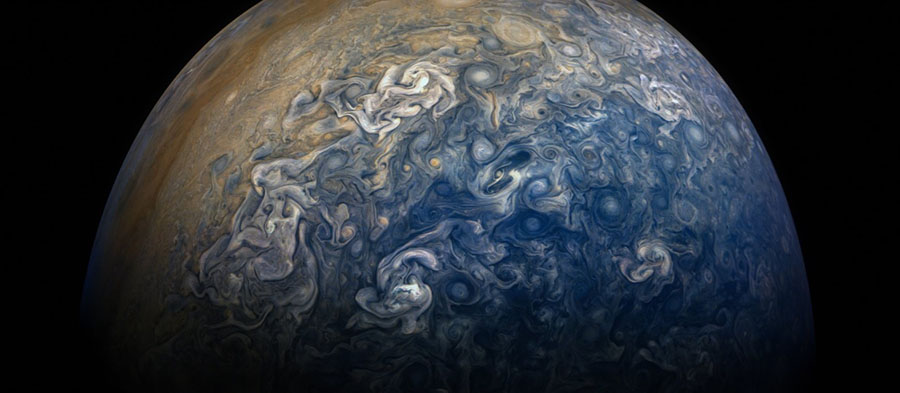 Photos of Jupiter taken by Juno, Spacecraft, Mission, Clouds like a painting