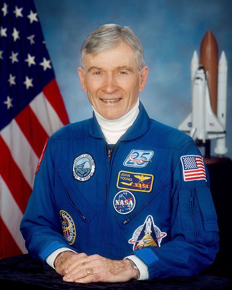 John W. Young dies at 87, NASA pilot, Six times to space, Shuttle missions