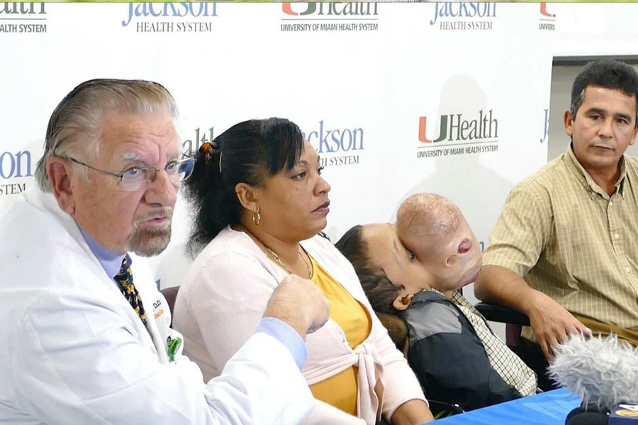 14-year-old boy from Cuba with a 10-pound tumor, Basketball-size tumor, Miami