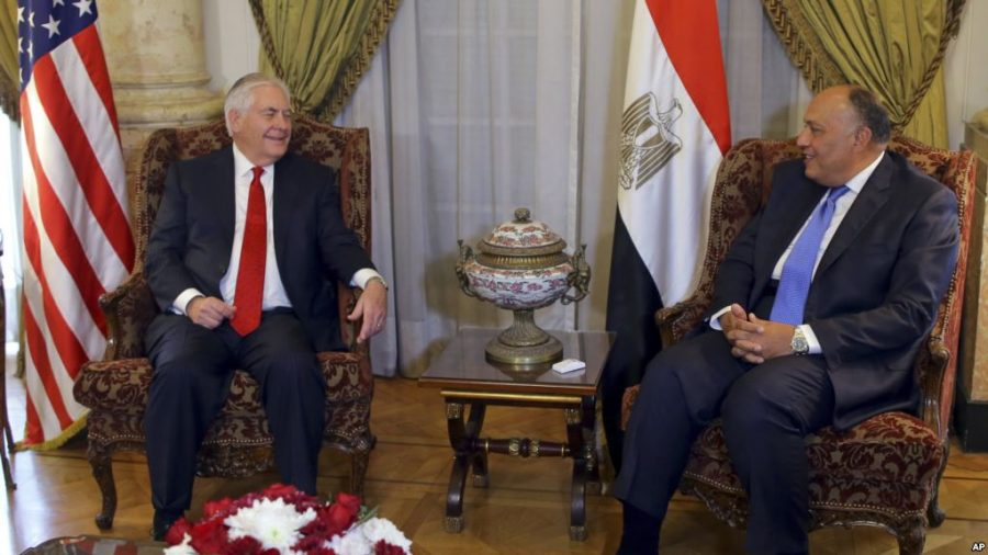 Rex W. Tillerson, united state secretary of state, egypt, middle east