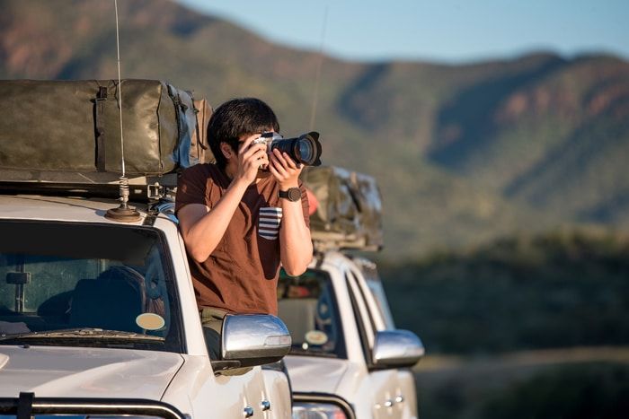 Photographer Documenting While Traveling