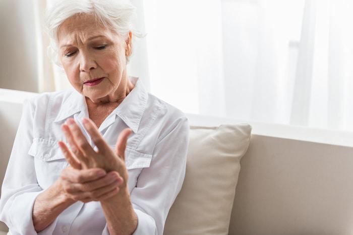 Arthritis in Hands of Older Woman