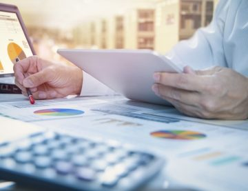 Businessman Reviewing Investments