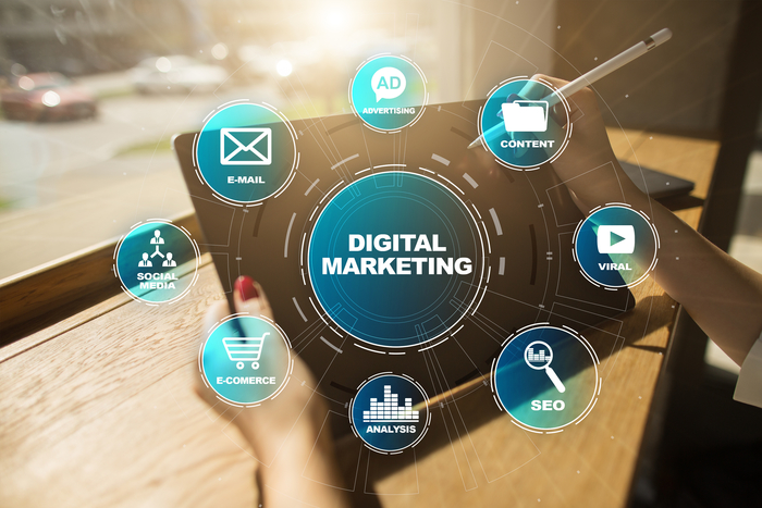 Digital Marketing Technology Concept