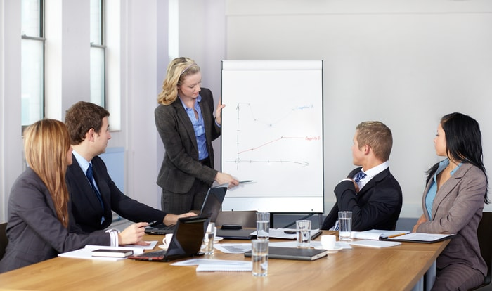 Female Employee in a Business Meeting
