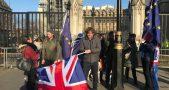 UK EU Flag & Protest