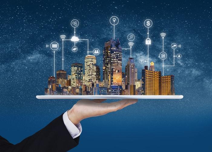 Smart City Real Estate Technology Concept
